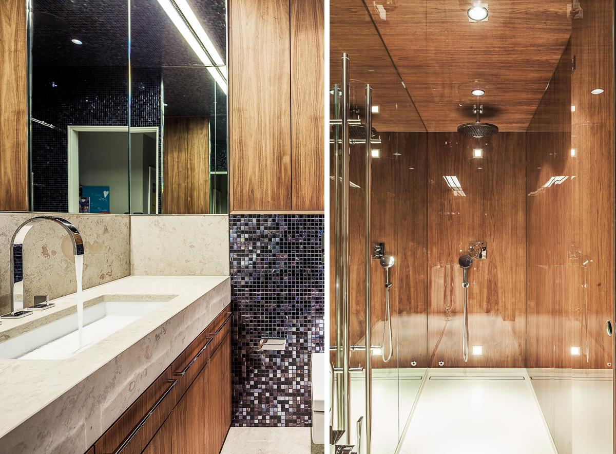 Badrum i renoverad lägenhet i Stockholm av Rex Arkitektbyrå