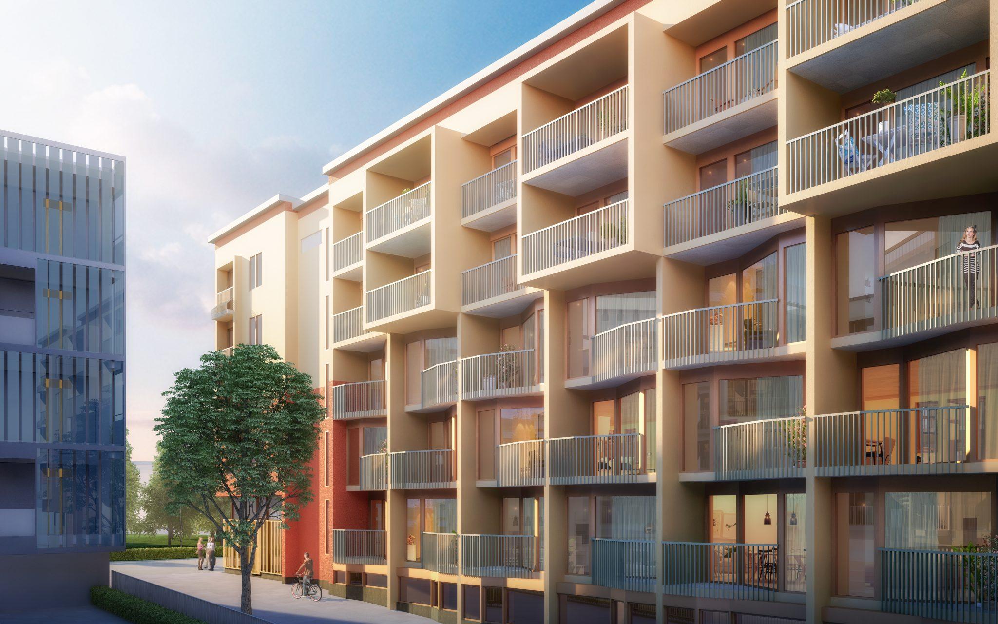 Nytt flerbostadshus i Upplands Väsby av Rex Arkitektbyrå