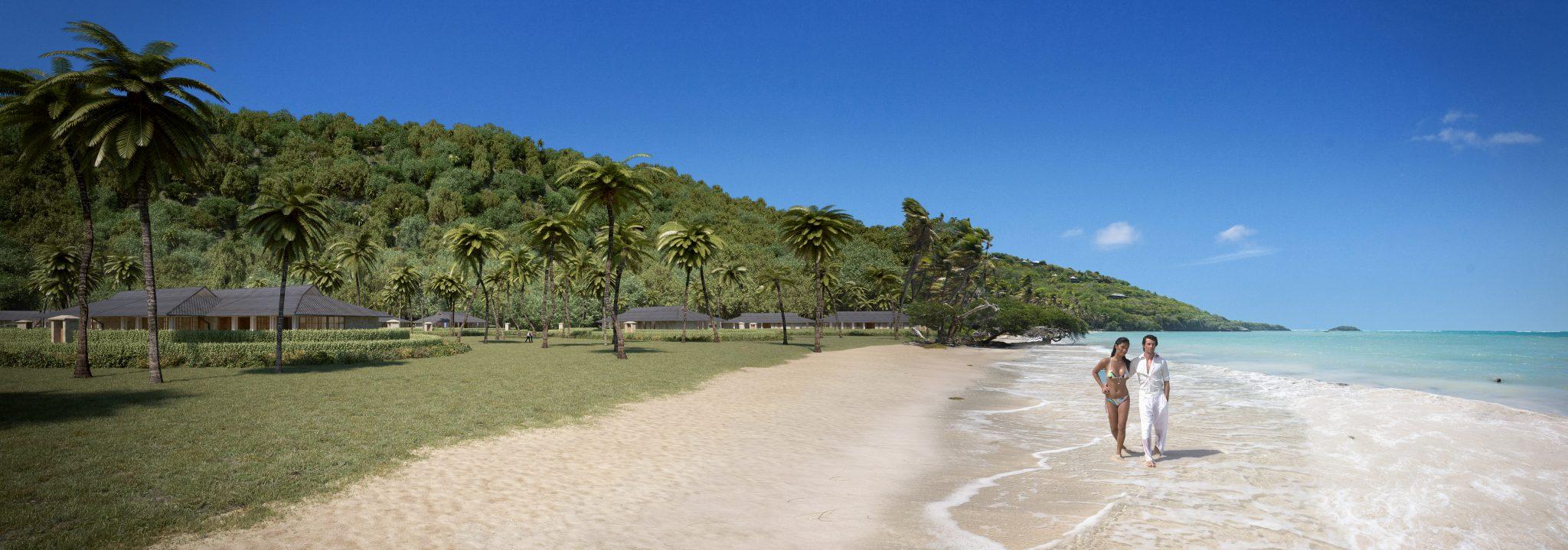 Strandvillor på ön Bequia, Karibien. Ritade av Rex Arkitektbyrå