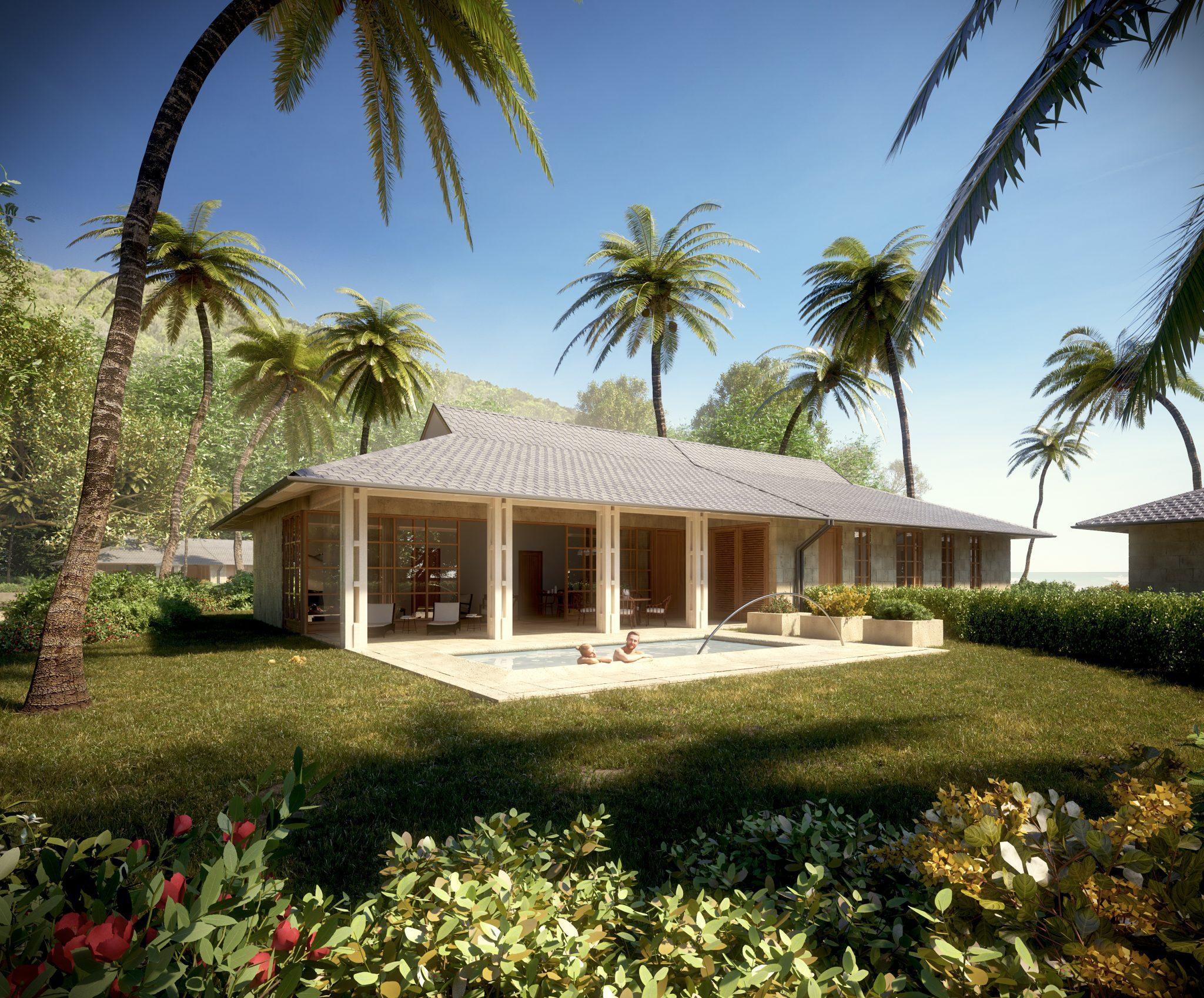 Strandvillor i Karibien där varje bostad har en egen pool, av Rex Arkitektbyrå