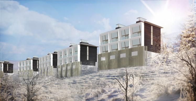 Idéprojekt för bostäder i Mosjoen, Norge, av Rex Arkitektbyrå.
