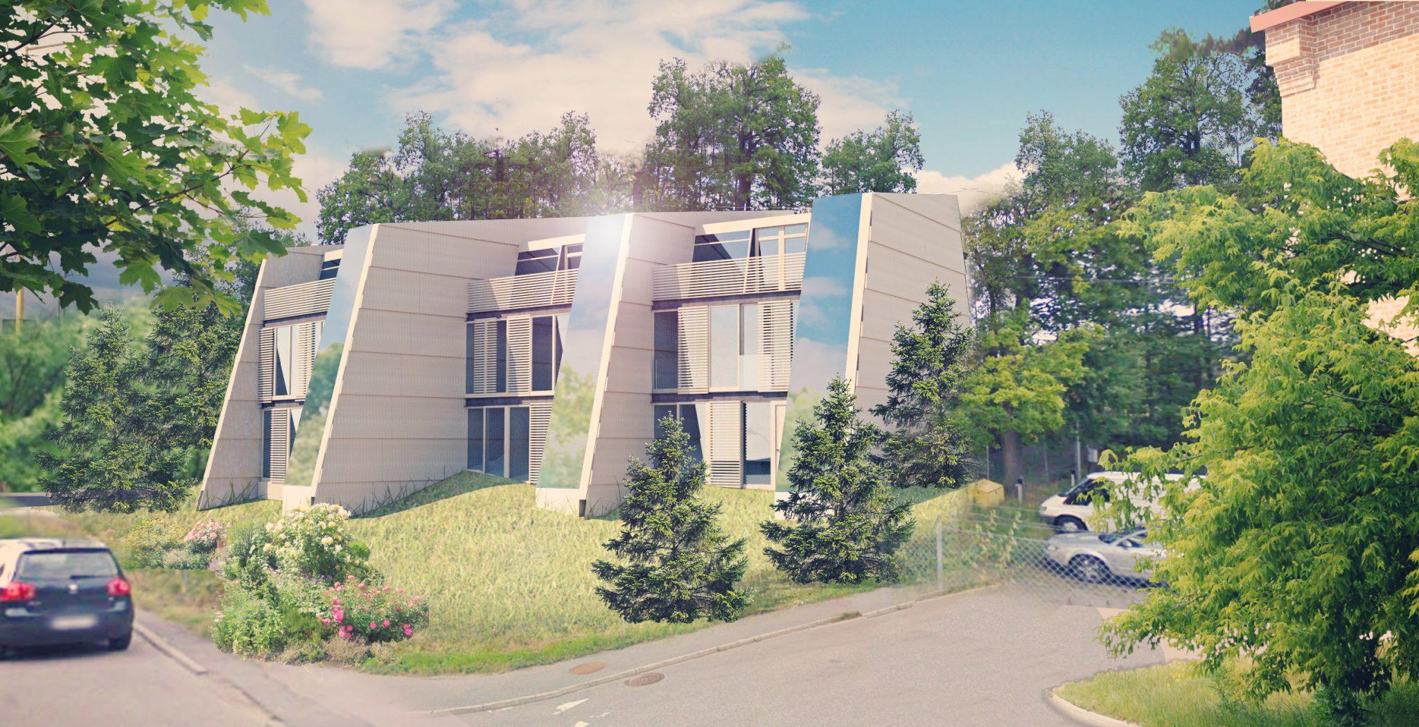 Nybyggnation av radhus, ritade av Rex Arkitektbyrå