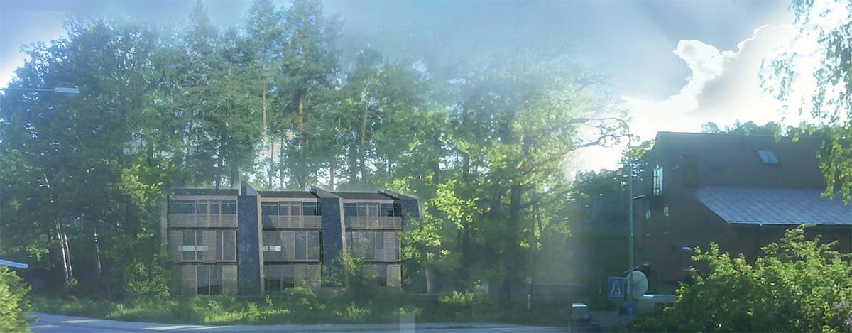 Rets radhus, ritade av arkitekterna på Rex Arkitektbyrå