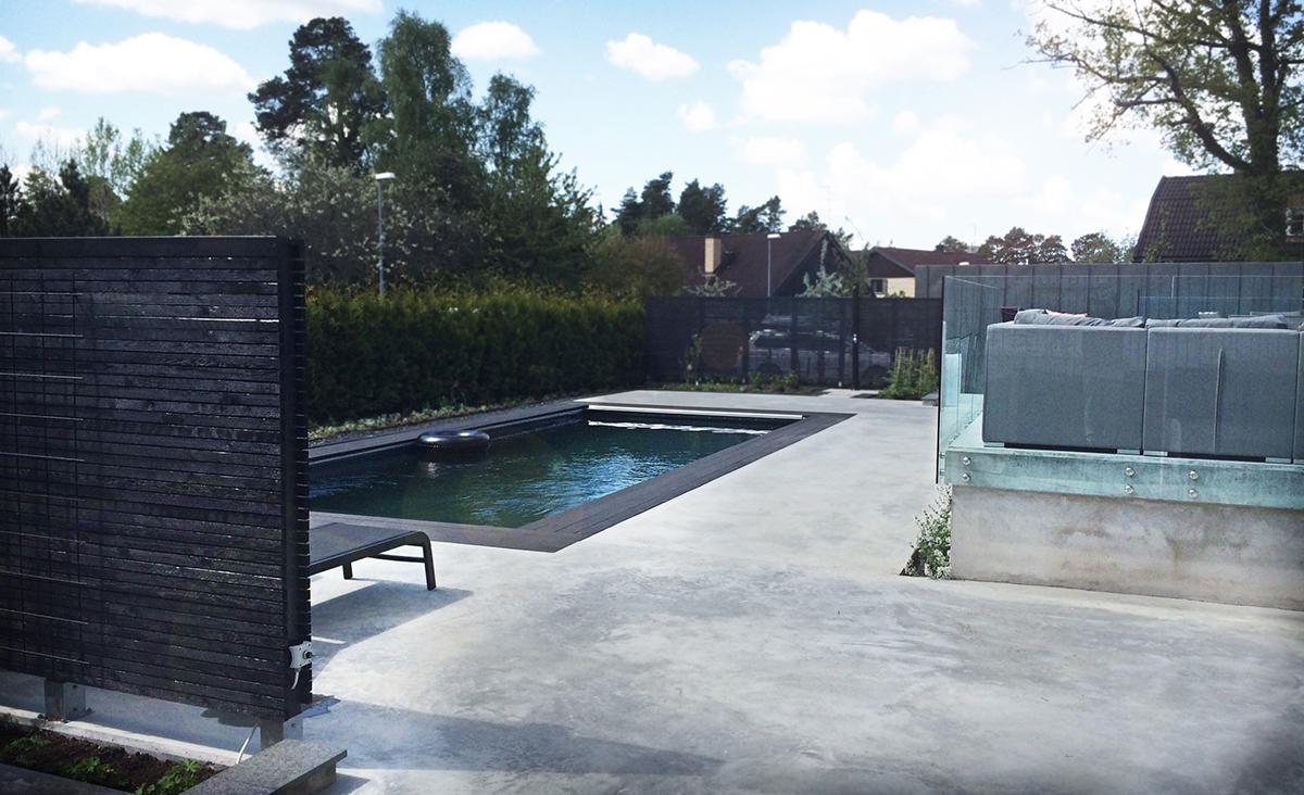 Poolområde i Villa Tegelhem, av Rex Arkitektbyrå