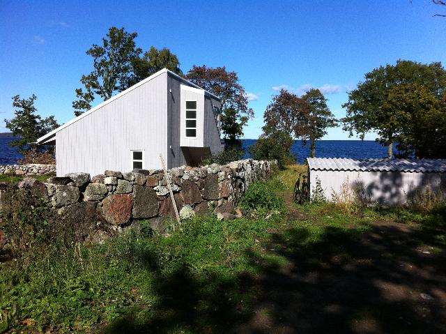 Utstickande trapparti i Villa Udde; ett sommarställe ritat av Rex Arkitektbyrå