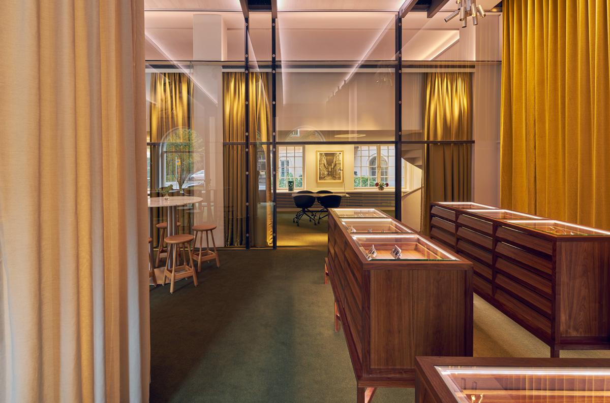 Showroom åt företaget Aloud ritat av Rex Arkitektbyrå
