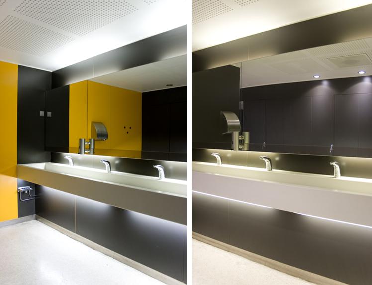 Rex Arkitektbyrå uppdaterade Cityterminalen. Moderna toaletter som är lätta att hålla rena och fina