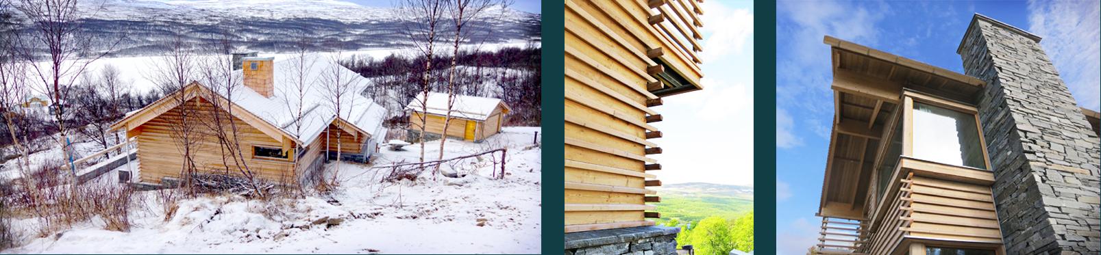 Fint hantverksarbete i den nybyggda fjällvillan, ritad av Rex Arkitektbyrå.