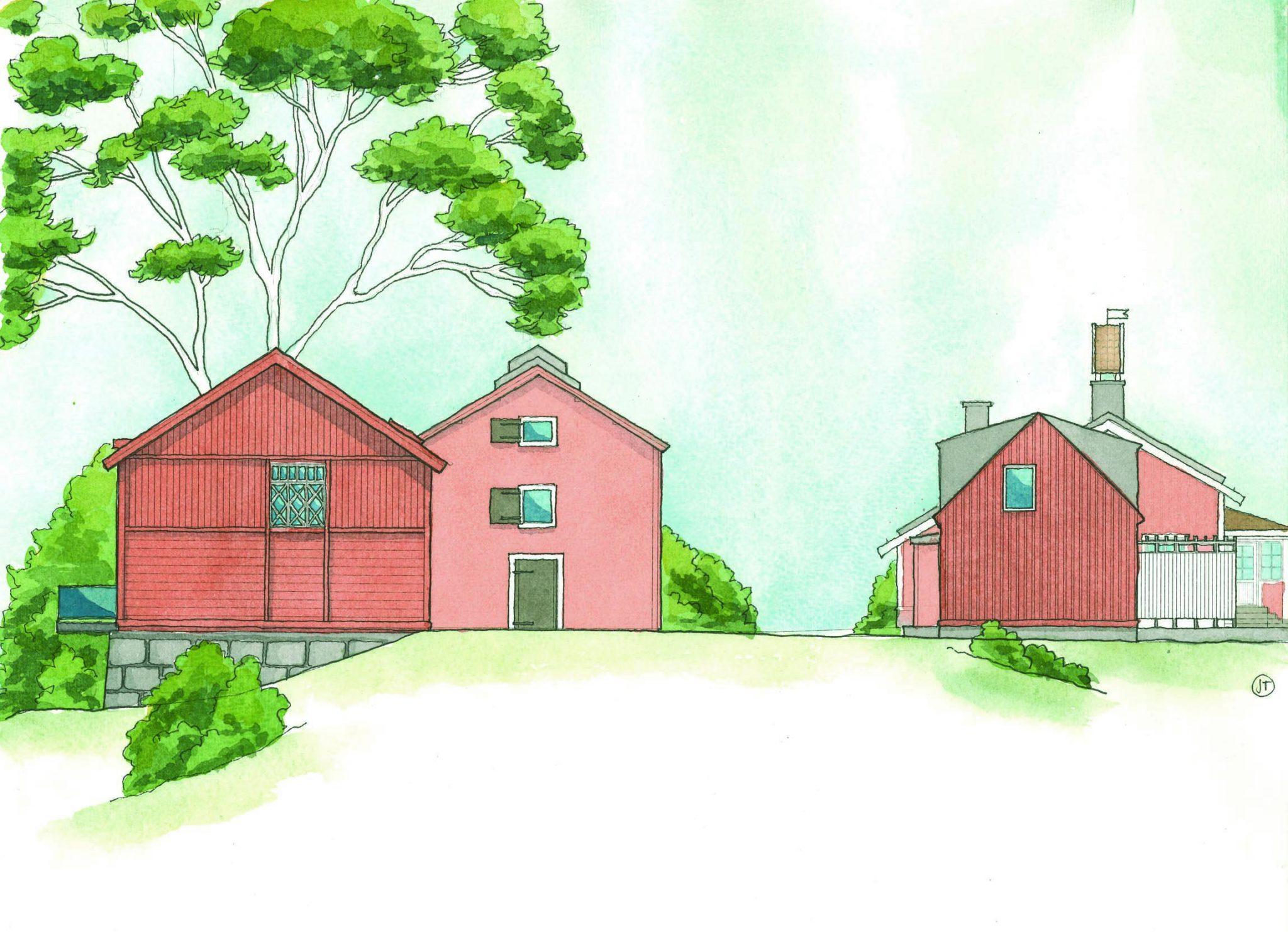 Varsam om-, till- och nybyggnad för attraktiva nya bostäder runt Marielunds herrgård, av Rex Arkitektbyrå