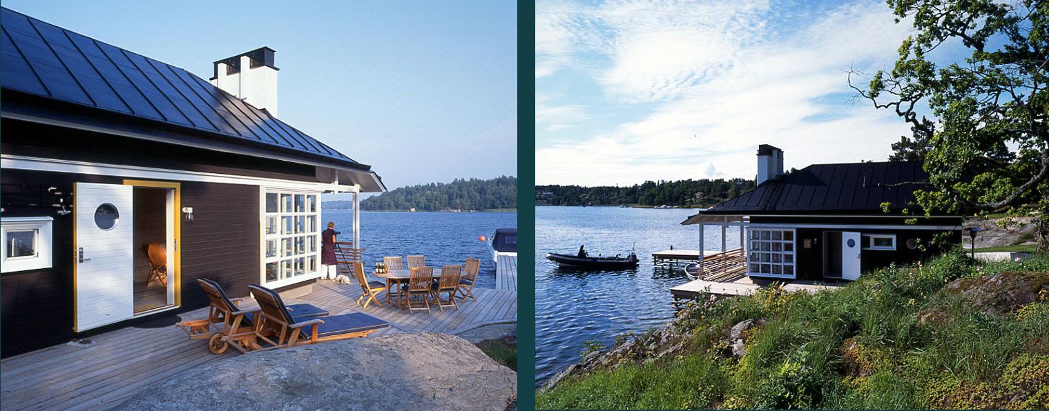 Nybyggnad av en sjöbod på vacker och inspirerande skärgårdsö, ritad av Rex arkitektbyrå