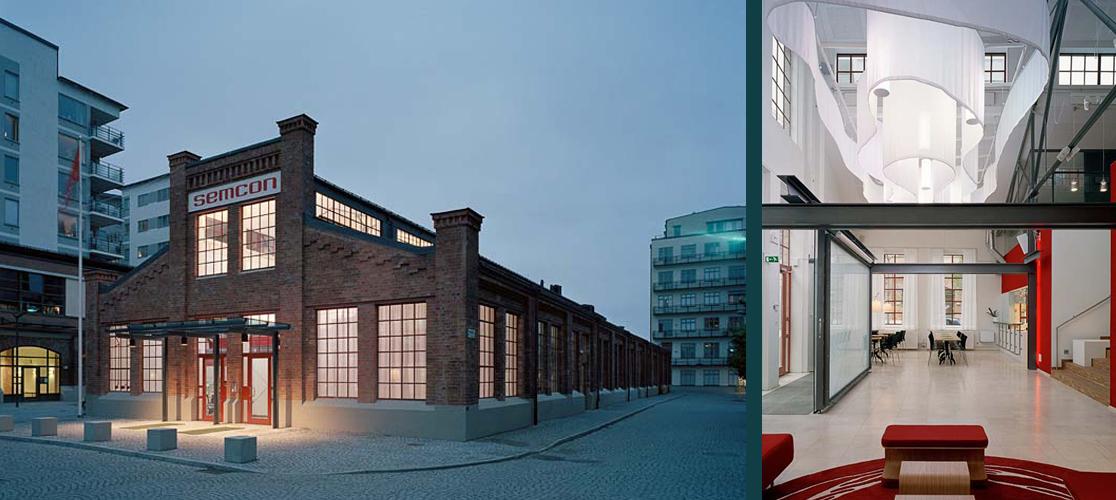 Rex Arkitektbyrå har ritat om Gjuterihuset till ett nytt kontor för Semcon
