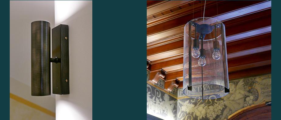 Armaturer av Rex Arkitektbyrå i samarbete med Örsjö belysning till entré och trapphusprojektet Malmgatan