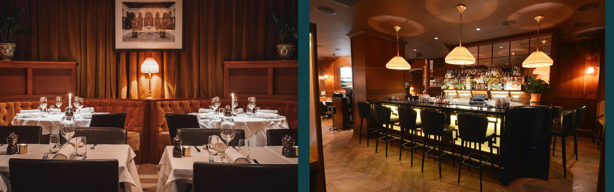 Restaurang- och bardel i Bardot, designad av arkitekterna på Rex