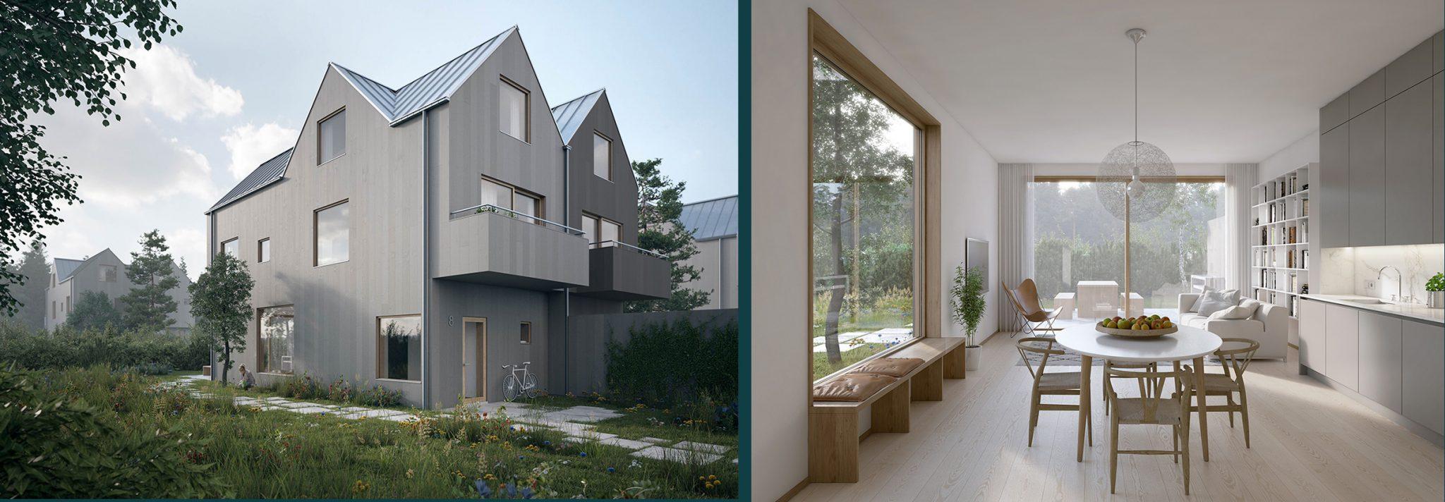Nytt, fint parhusområde i Stockholm av Rex Arkitektbyrå