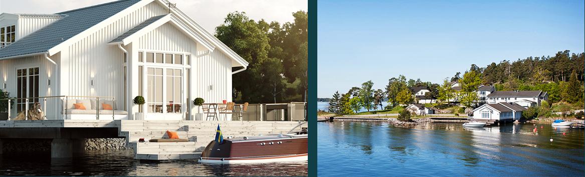 Nytt bostadsområde vid havet nära Stockholm, av Rex Arkitektbyrå