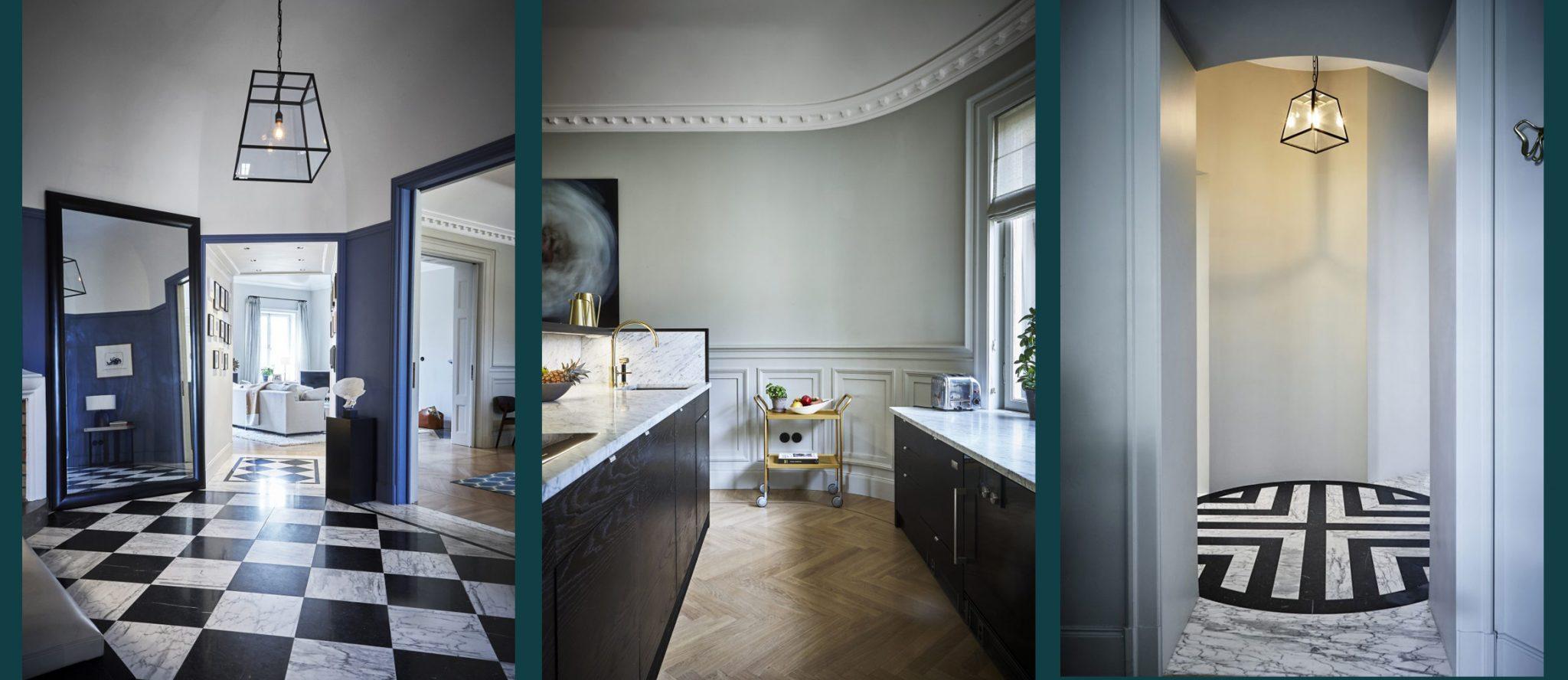 Totalrenoverad lägenhet på Karlaplan i Stockholm av Rex Arkitektbyrå