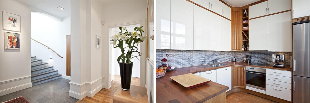 Entré och kök i ny vindsvåning av Rex Arkitektbyrå