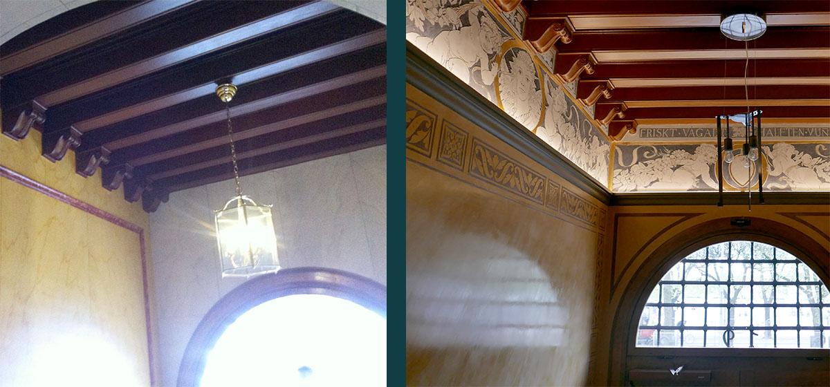 Renovering av entré och trapphus i projektet Malmgatan av Rex Arkitektbyrå
