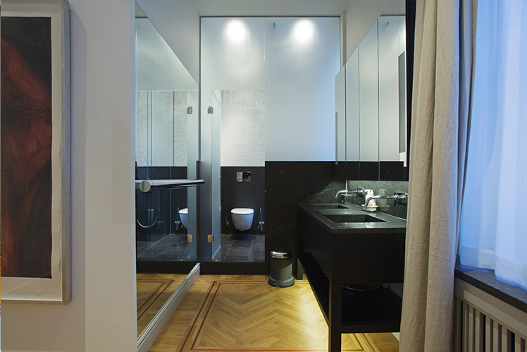 Masterbedroom i Lägenhet Vinblad där Rex anlitades inför en omfattande renovering