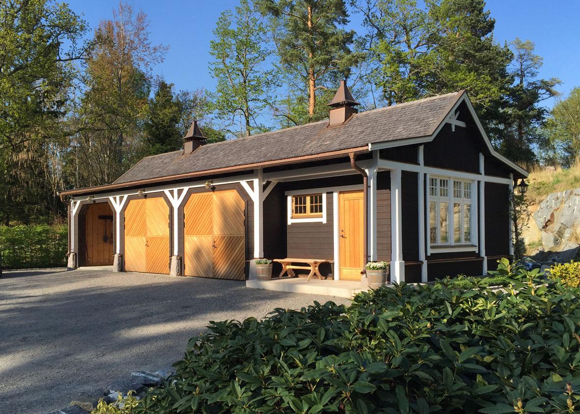 Garage tillhörande Villa Åshem, av Rex Arkitektbyrå