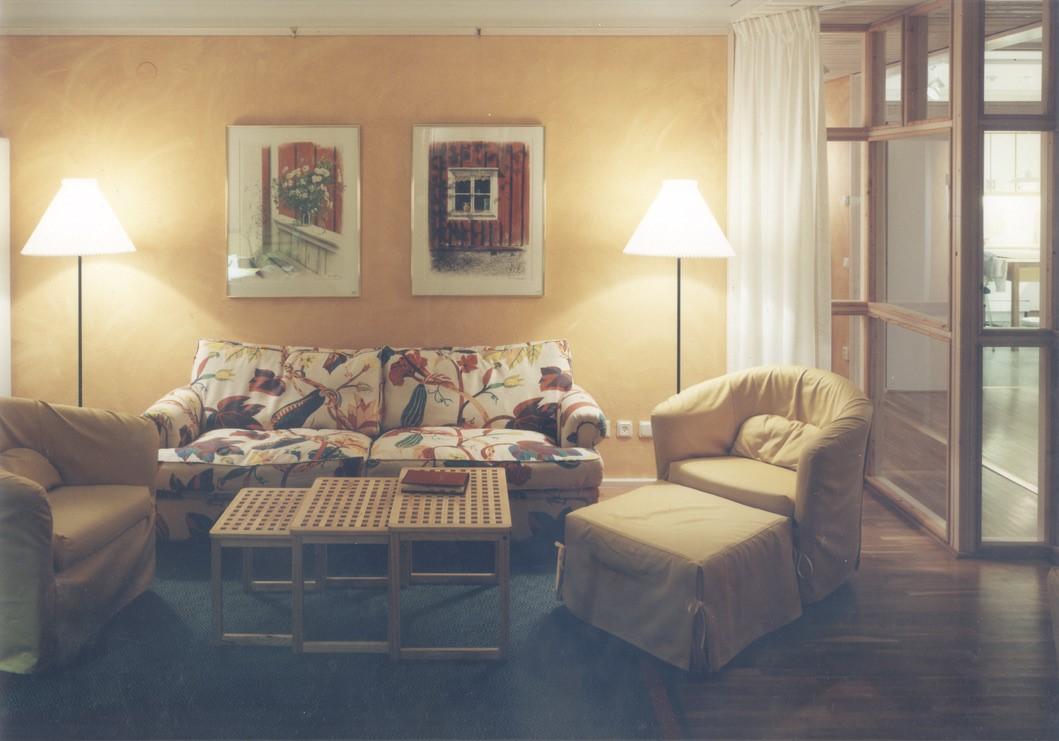 Rum inne i Ronald McDonald hus ritat av Rex Arkitektbyrå