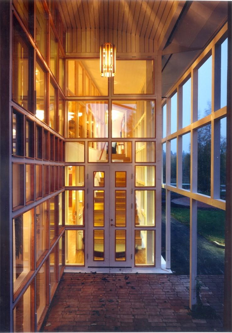 Entré till Ronald McDonald hus ritat av Rex Arkitektbyrå