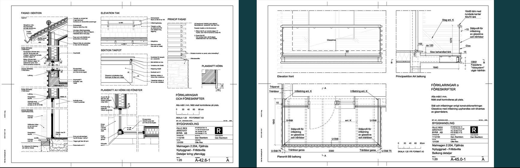 Rex Arkitektbyrå etapper i projekt. Femte etappen är bygghandlingar