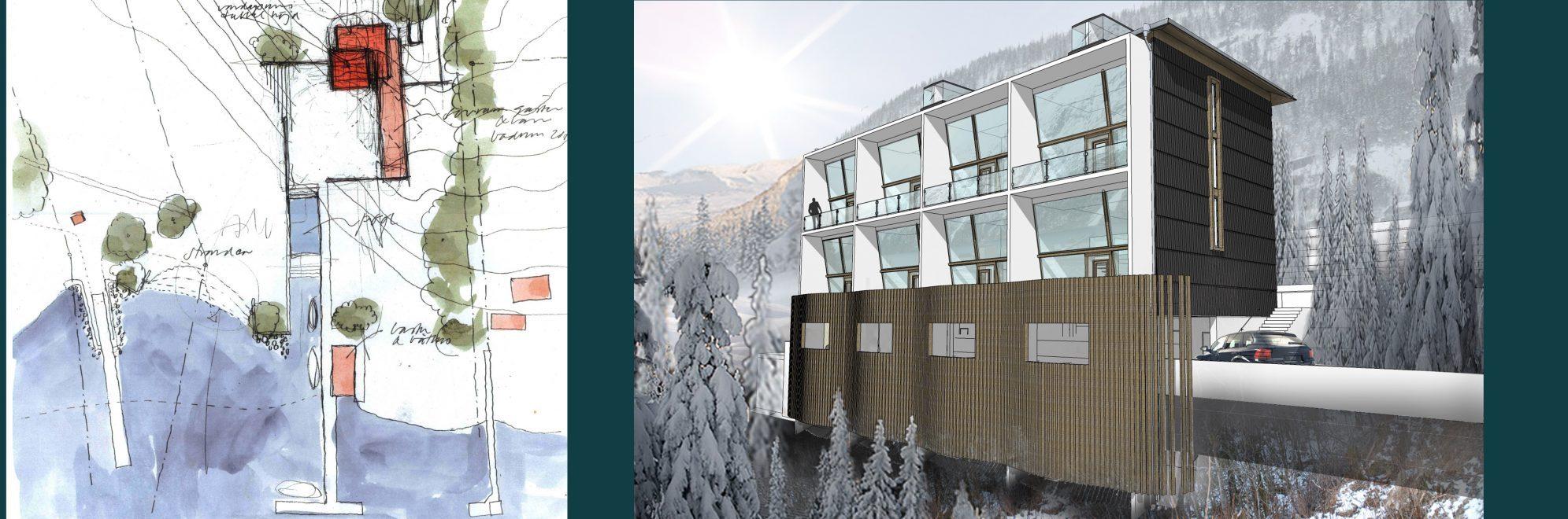 Rex Arkitektbyrå etapper i projekt. Första etappen är idé och program