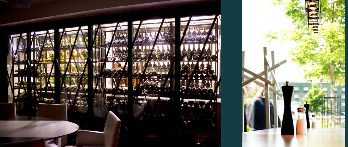 Ny lunchkantin med kiosk, à la Carte, bar och vinkällare i Martin Olssons restaurang. Rex Arkitektbyrå