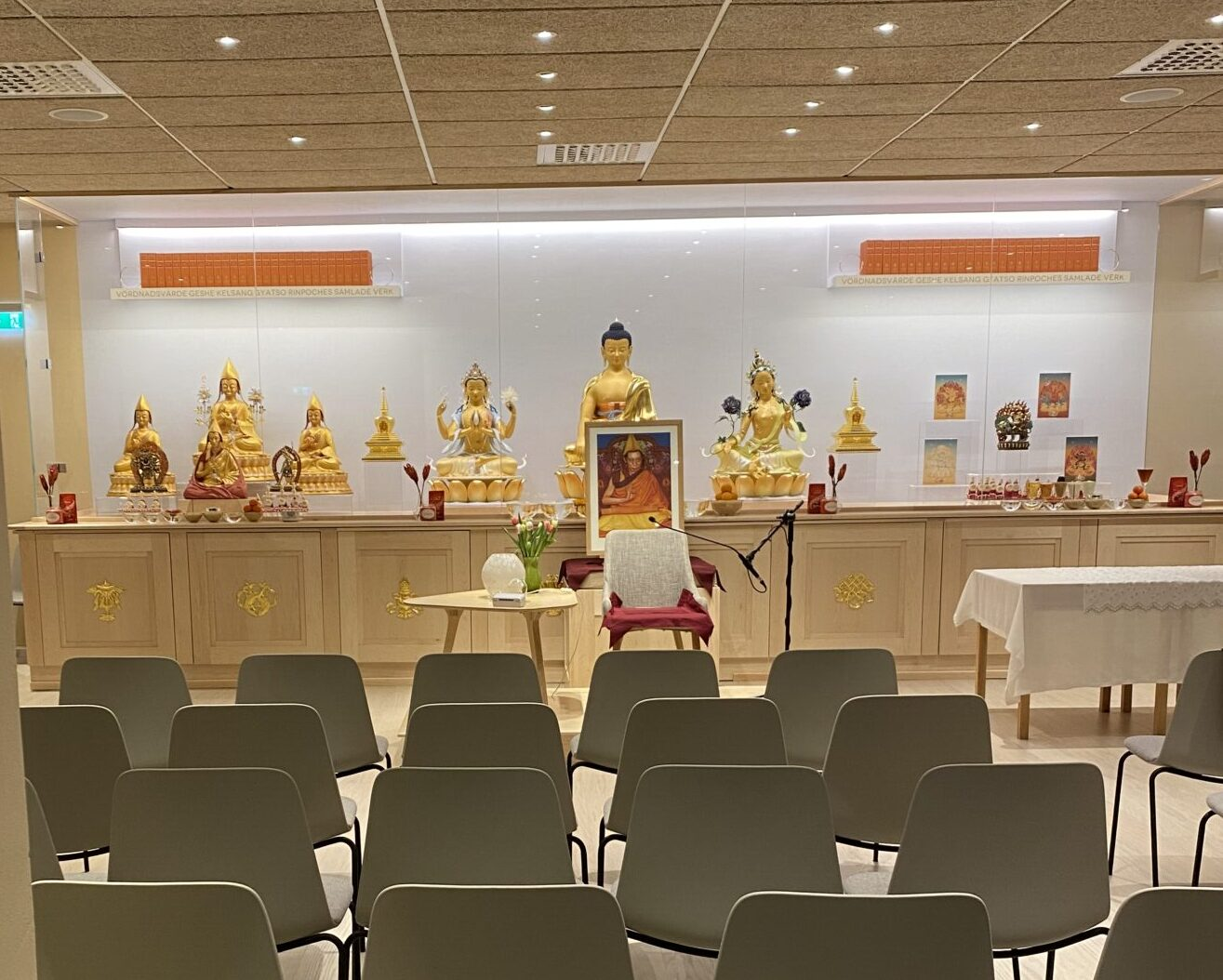 Meditationssal i Kadampa meditationscenter