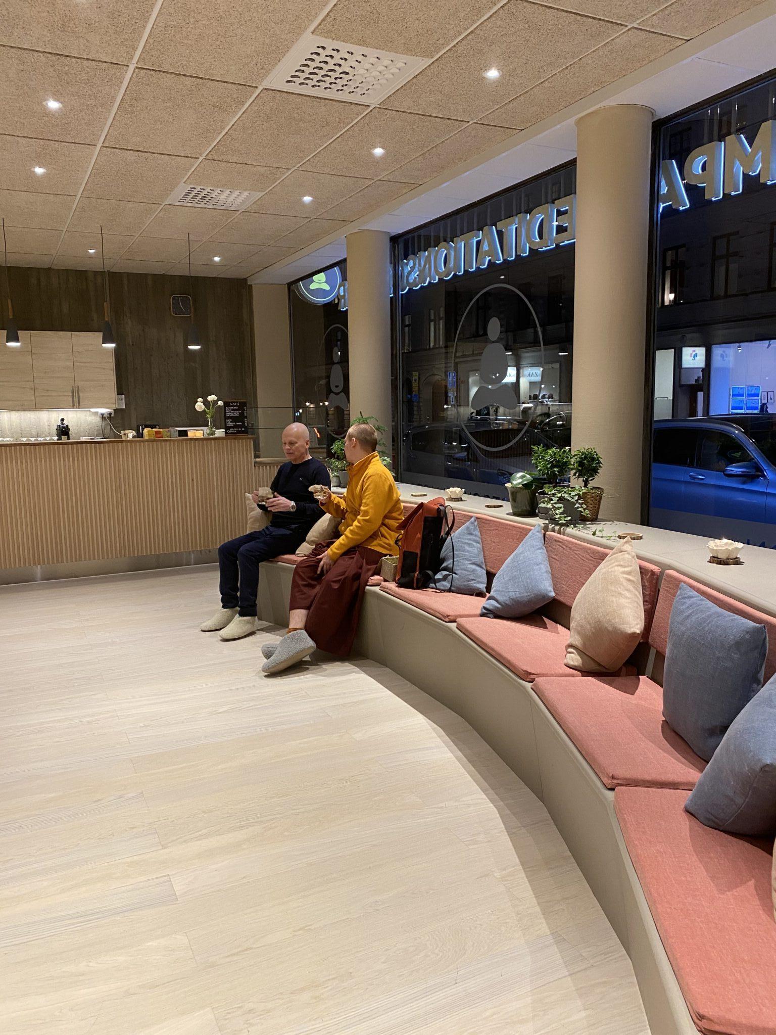 Entré till det nya meditationscentret i Stockholm som Olle Rex var delaktig i.